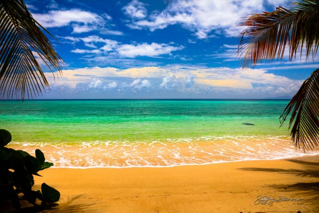 Clouds, Ocean, Sand