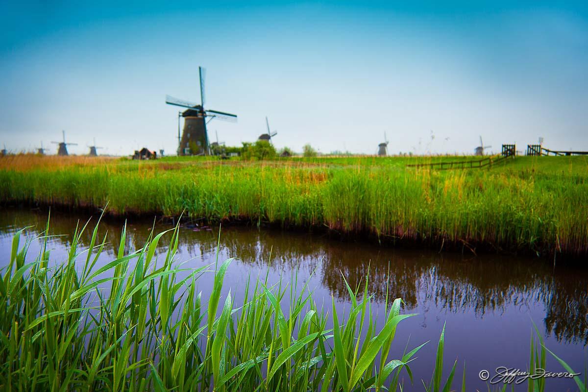 Kinderdijk Windmills Holland Jeffrey Favero Fine Art