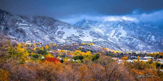 Fall First Snow - Pano Format