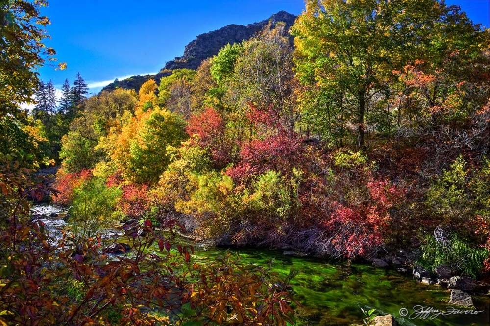 Ogden Canyon - River And Fall Colors