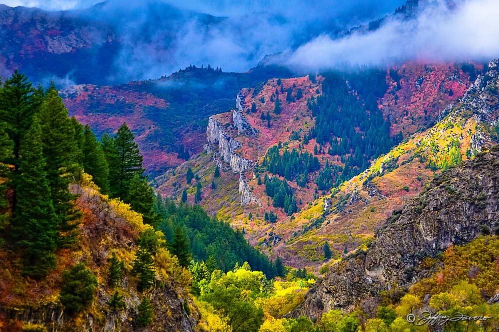 Fall Ogden Canyon Below Dam