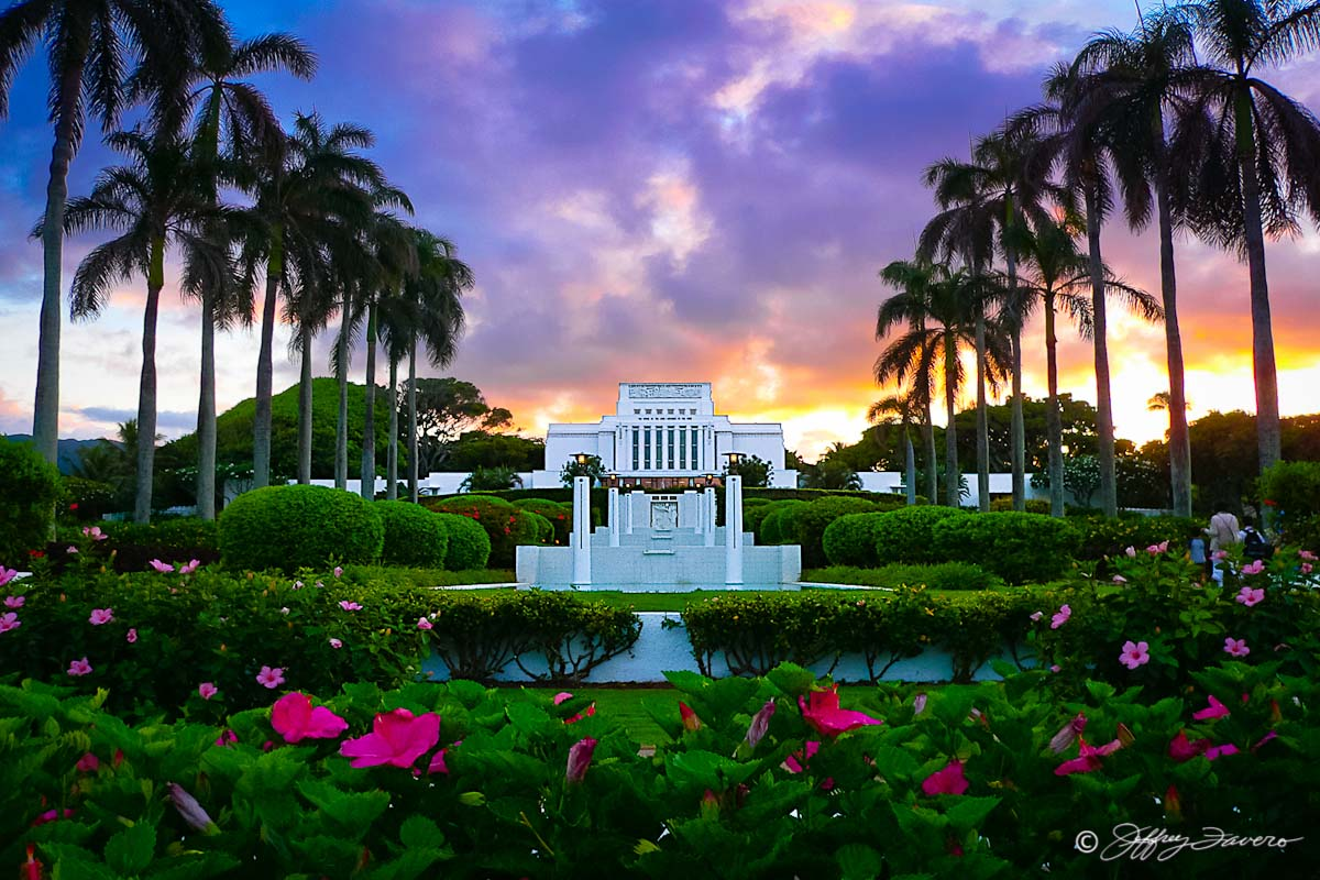 Laie Hawaii Temple Jeffrey Favero Fine Art Photography