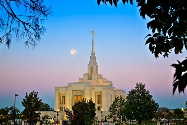 Ogden Temple Full Moon