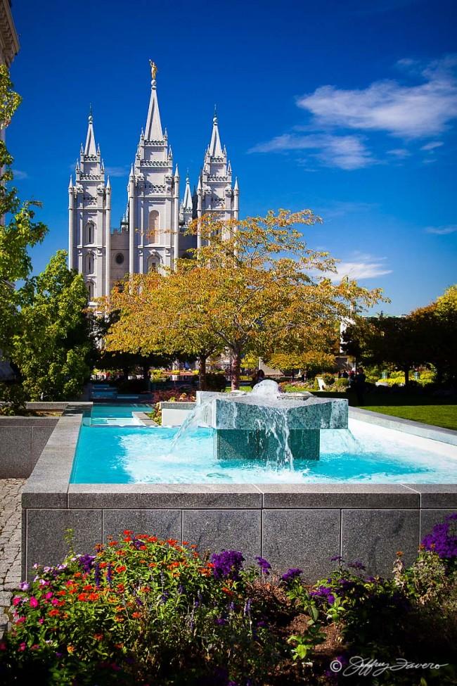 Salt Lake Temple Early Fall
