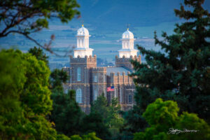 Logan Temple from USU Campus