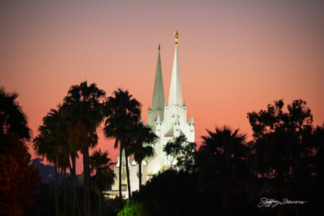 San Diego Temple After Sunset