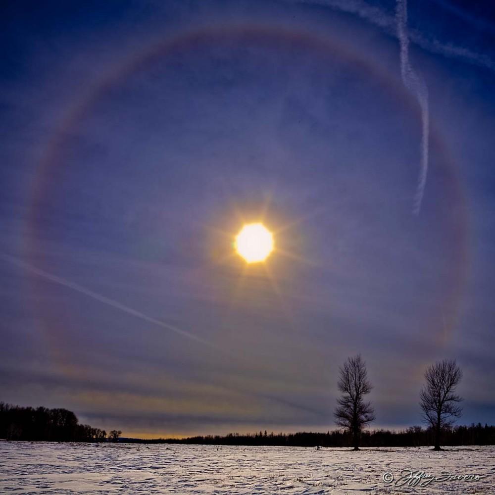 Winter Sunbow - Bridger Valley