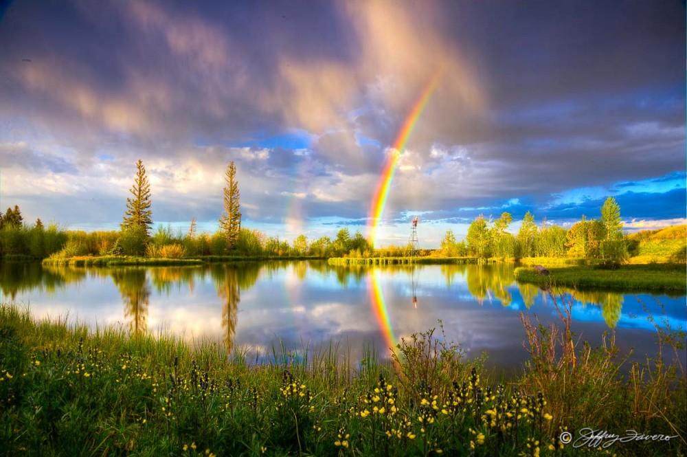 Evening Rainbow Reflection #1