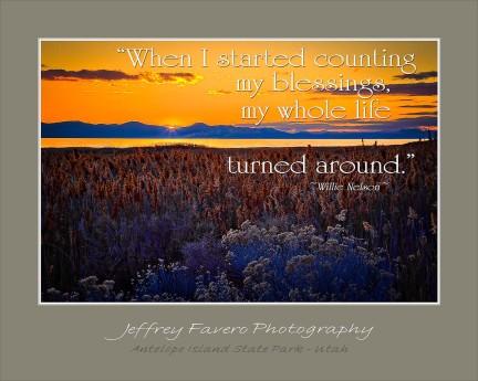 Antelope Island Sunset - Willie Nelson