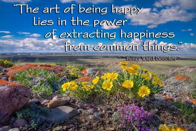 Art Of Being Happy - Bridger Valley Wyoming