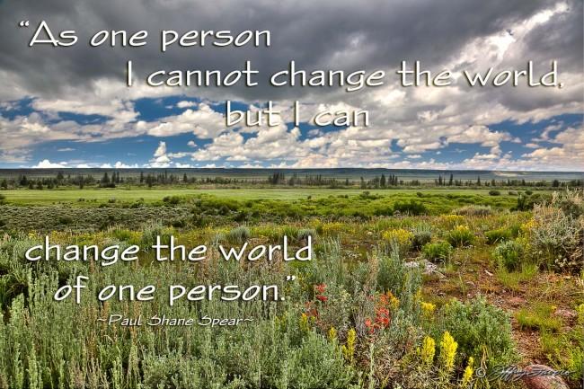Change The World - Spring Sagebrush