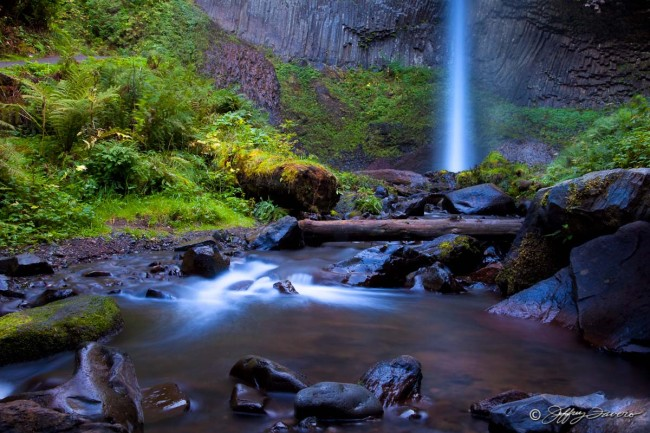 Lower Latourell Falls - Columbia River Gorge