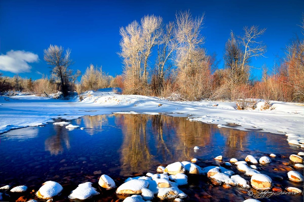 Blacks Fork River In Winter