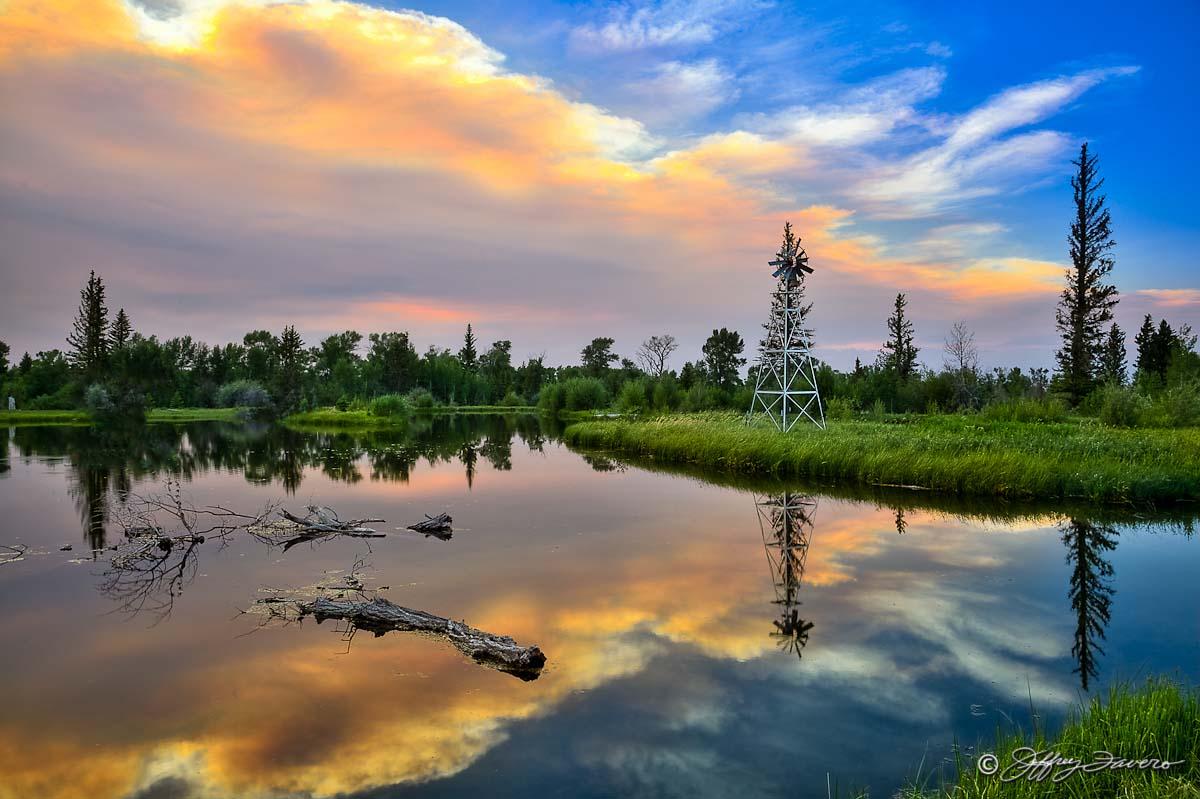 Colorful Pond Reflection Jeffrey Favero Fine Art Photography
