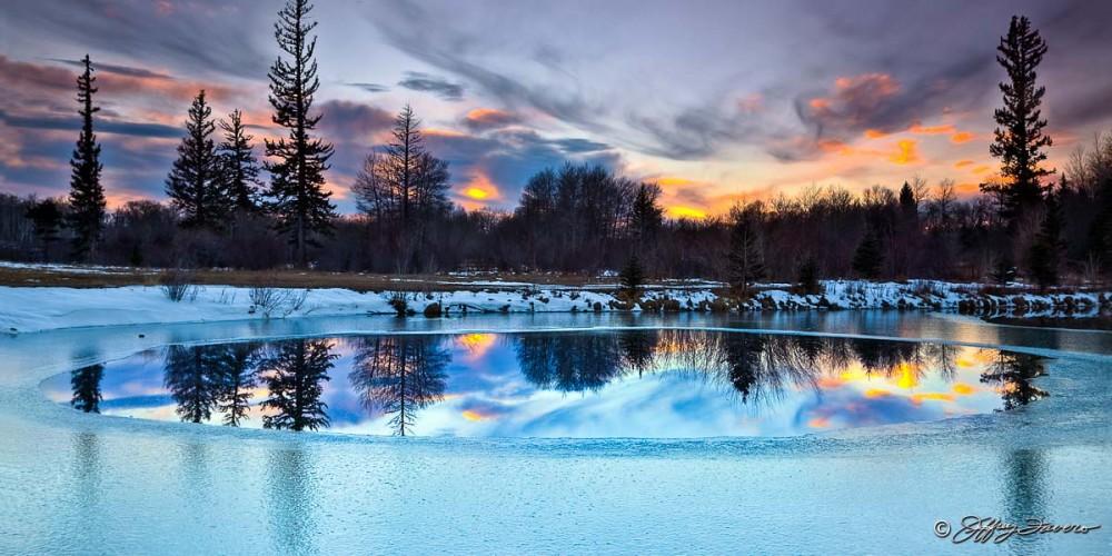 Winter Sunset Reflection