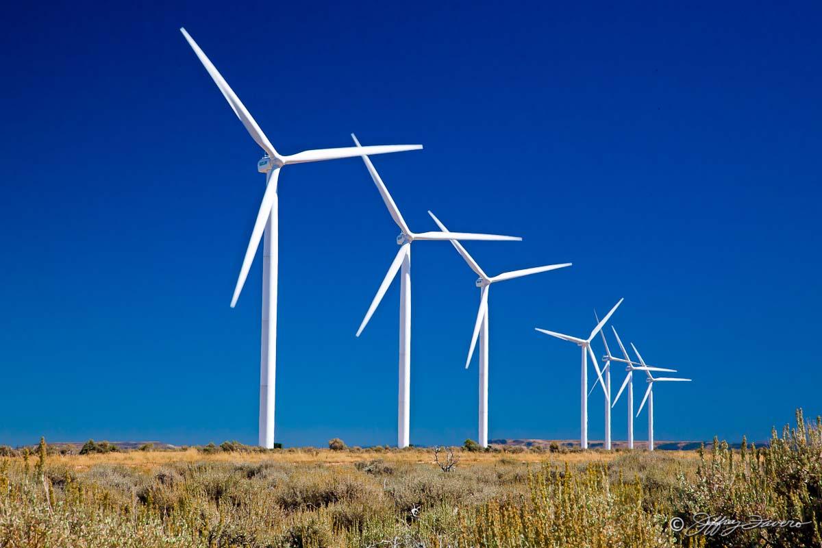 Wind Turbines And Blue Sky Jeffrey Favero Fine Art
