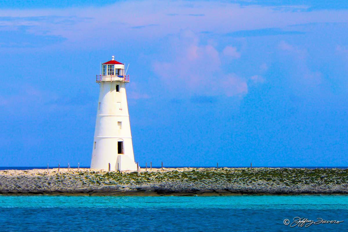 Nassau Lighthouse Bahamas Jeffrey Favero Fine Art