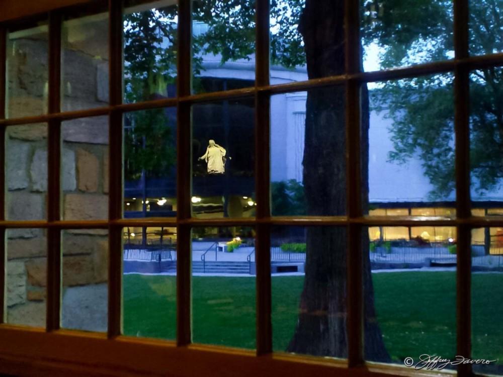 Cristus Statue From Tabernacle Window