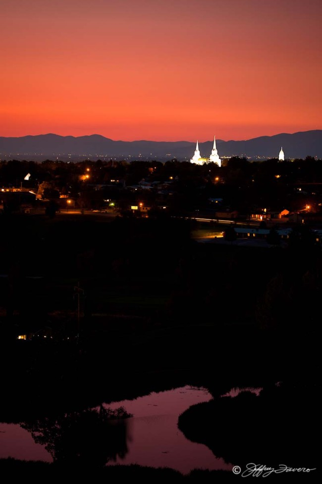 Brigham City Temple - Tabernacle Spires Over Golf Course II