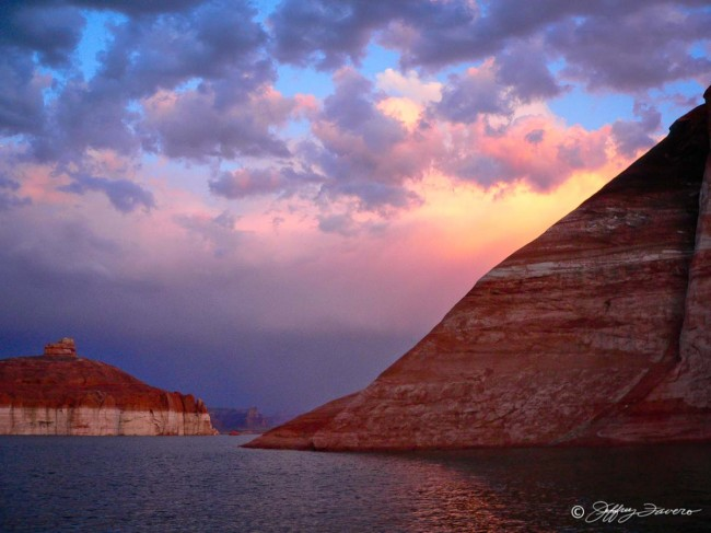 Lake Powell - Pink Clouds