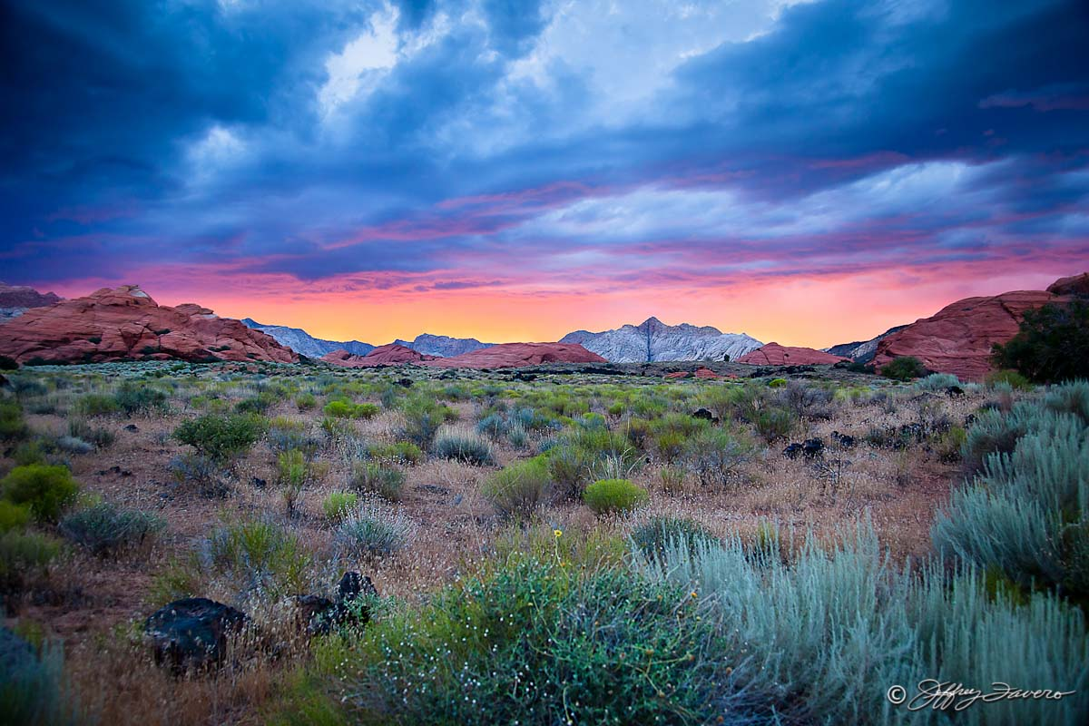 after sunset - snow canyon state park - utah