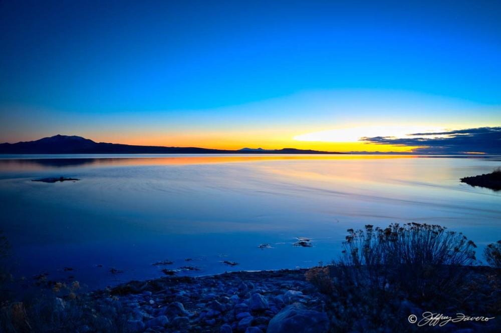 Antelope Island Sunset From Causeway