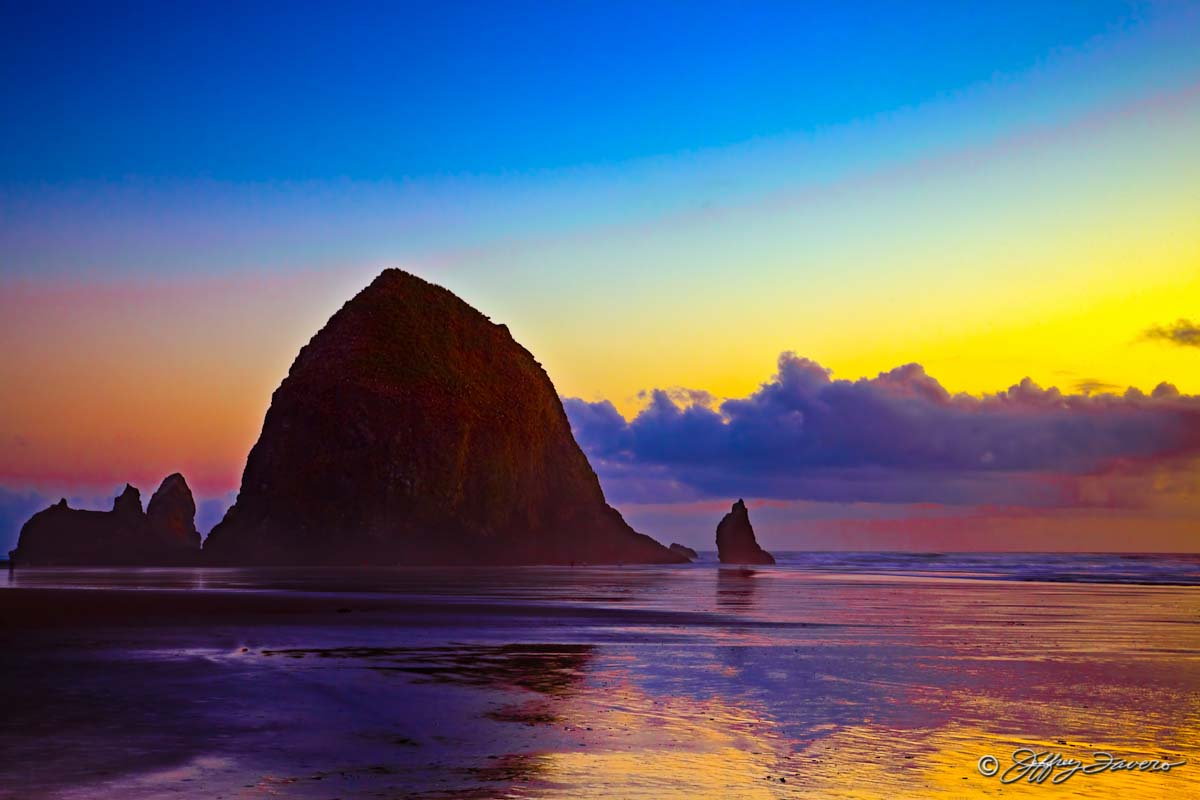 Haystack Rock Cannon Beach Oregon Jeffrey Favero Fine
