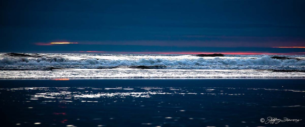 Oregon Coast Waves At Sunset