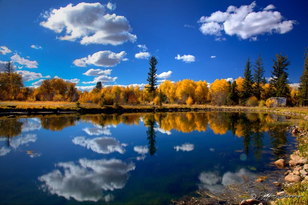 Upper Pond Fall Reflection - 7F Ranch
