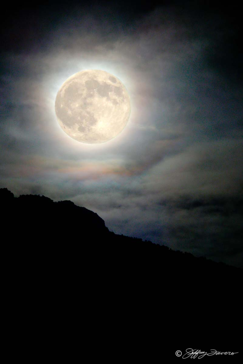 October Full Moon - Wasatch Front