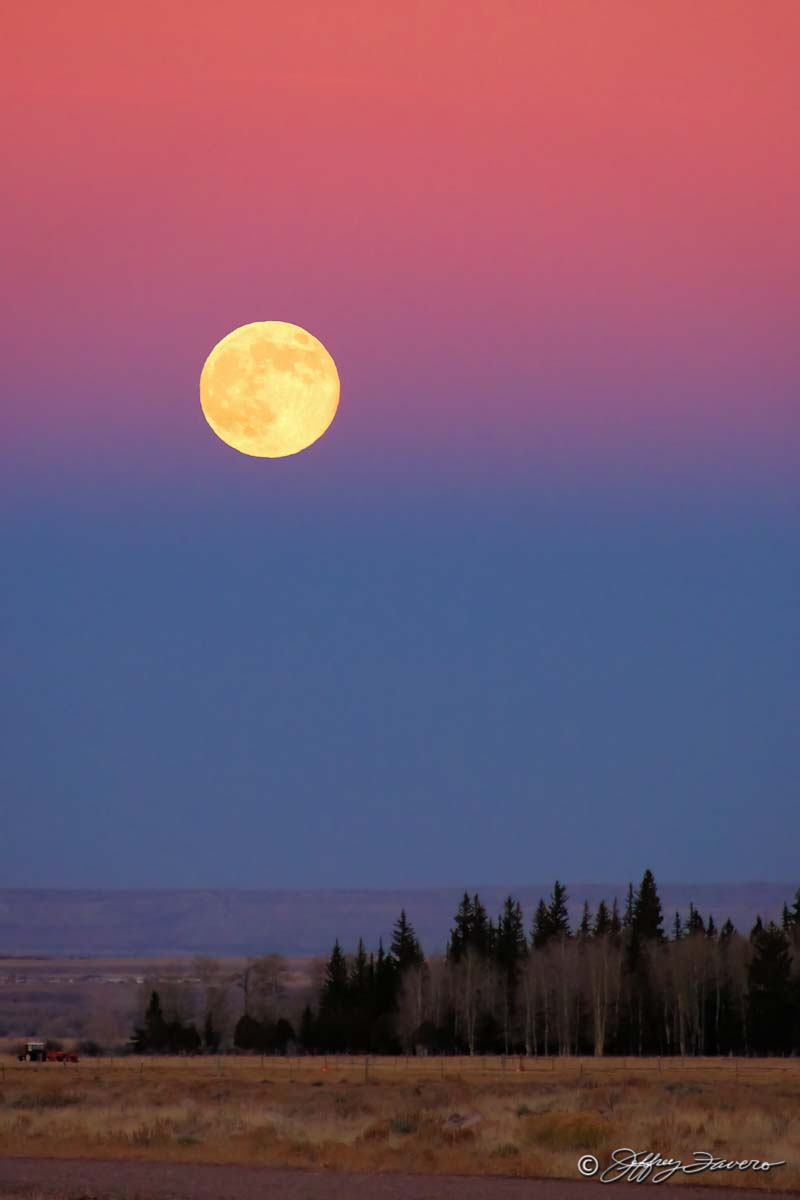 November Full Moon - Bridger Valley Wyoming