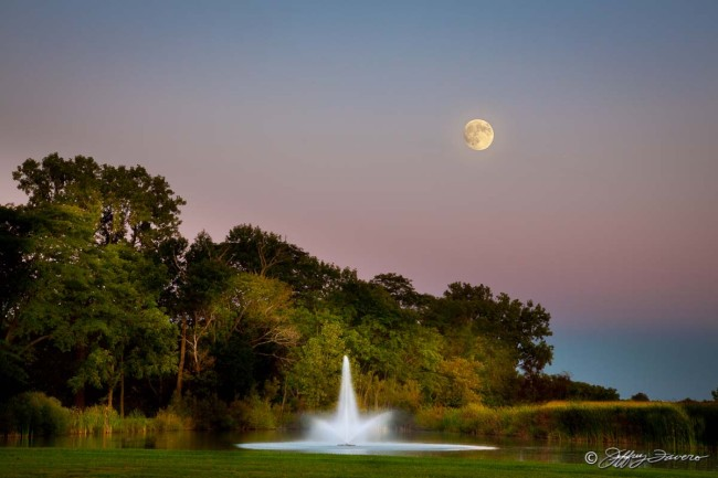 September Moonrise - Milford Center, Ohio
