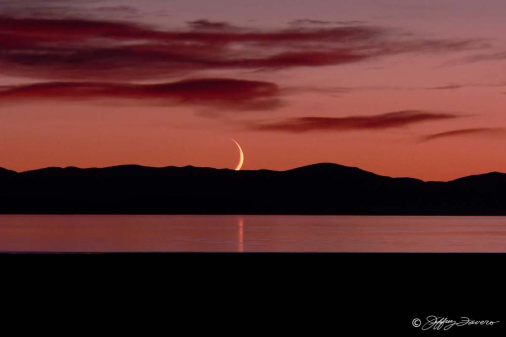 Moonset - Antelope Island, Utah