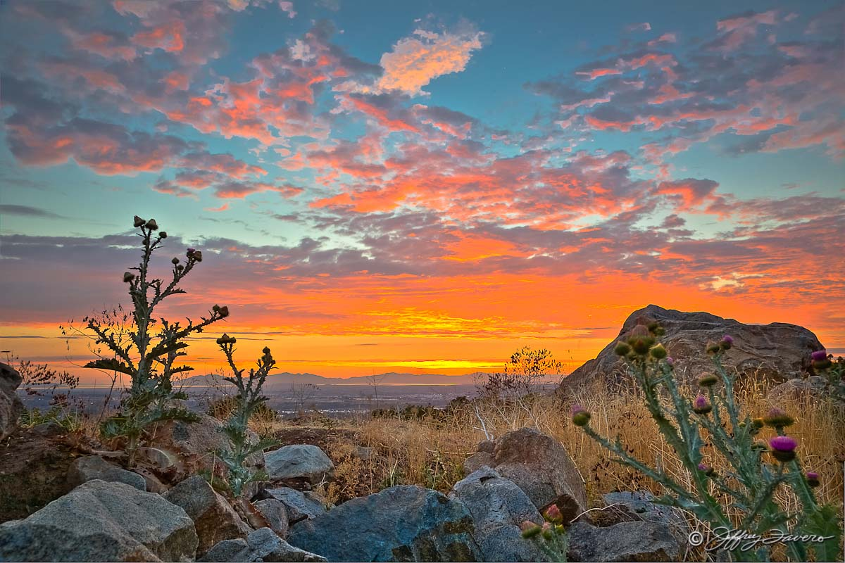 East Bench Sunset Ogden Utah Jeffrey Favero Fine Art