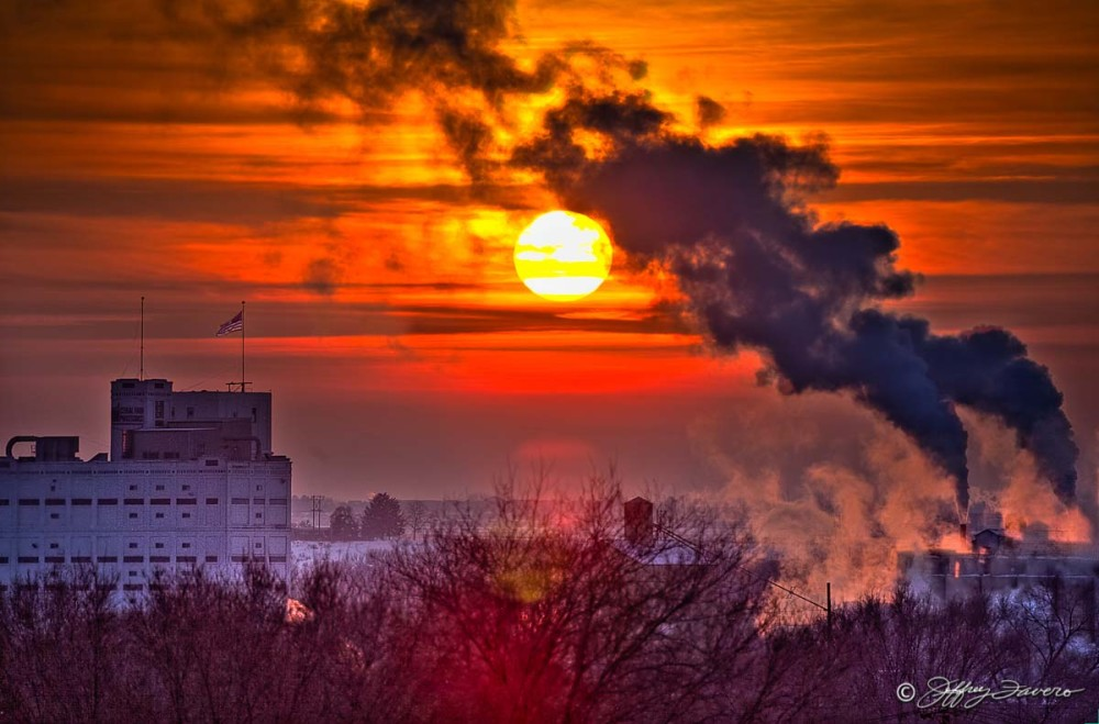 Hazy Winter Sunset - Ogden, Utah