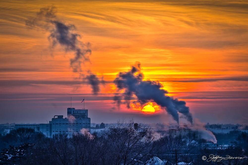 Hazy Winter Sunset III - Ogden, Utah