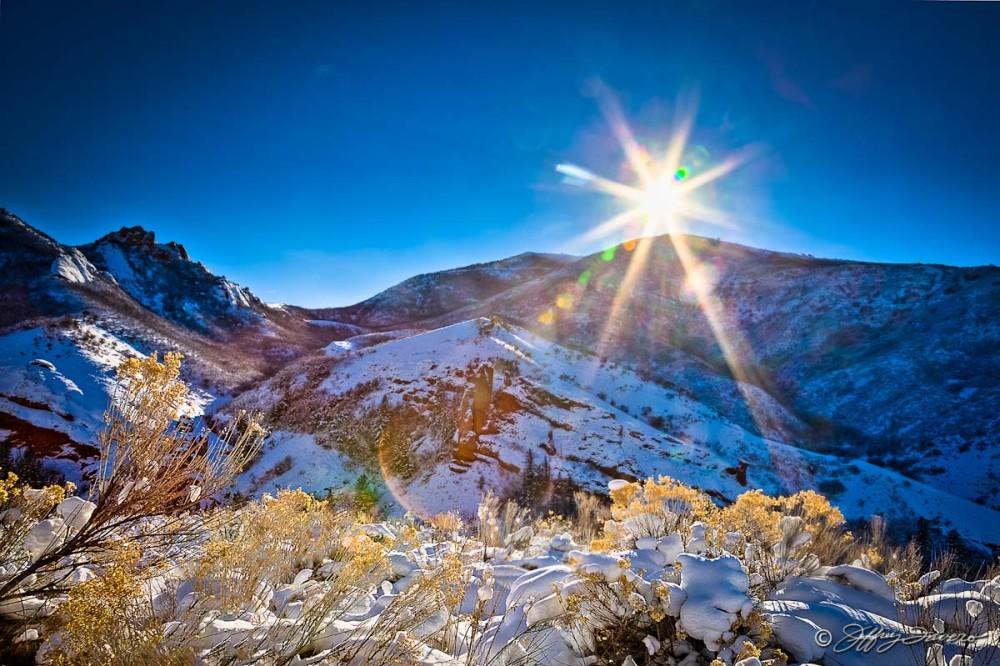 Winter Sun Below East Canyon Reservoir