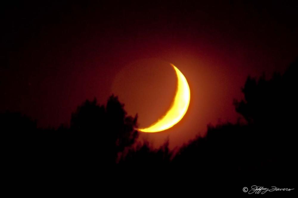 Fiery Moonset