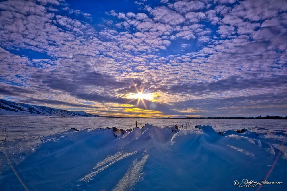Winter Sun And Clouds