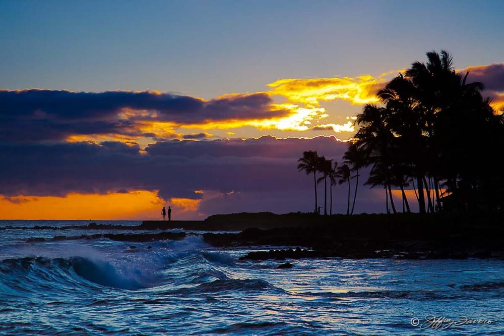 Sunset Couple Silhouette - Kaua'i