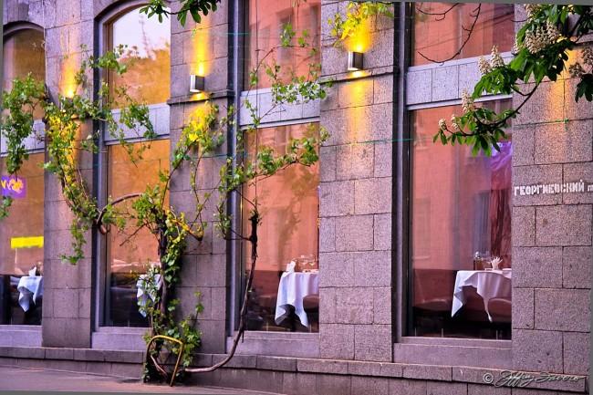 Restaurant Window Reflection - Ukraine