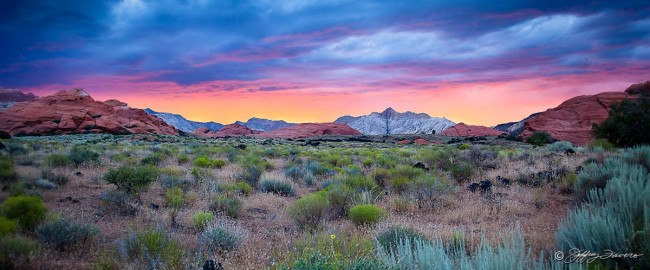 Sunset Sky Snow Canyon