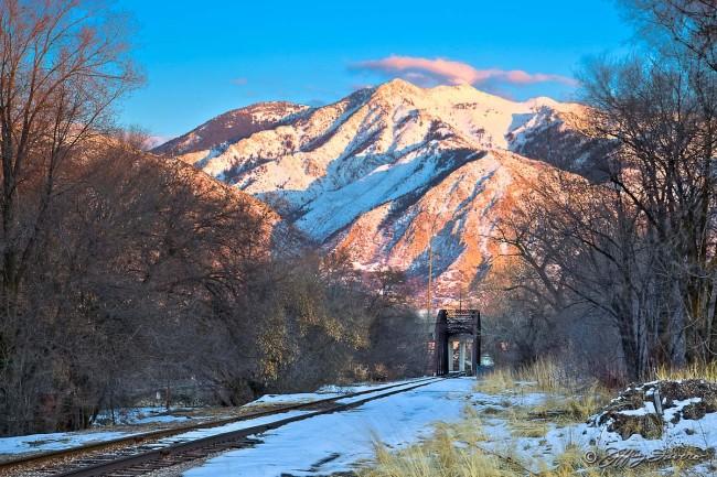 Mt. Ogden From Across The Tracks
