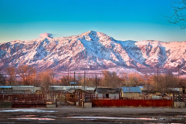 Ben Lomond From Union Stockyards