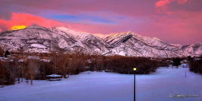 Ogden Mountain Sunset