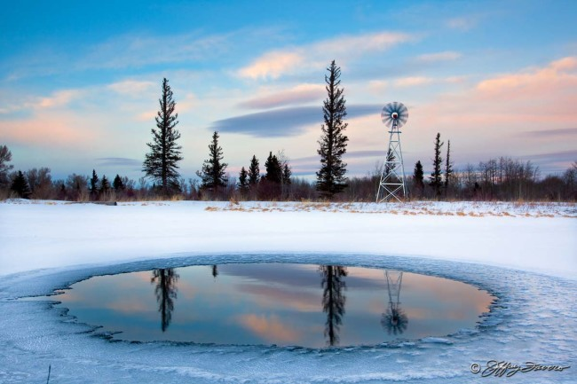Winter Reflection - 7F Ranch, Wyoming
