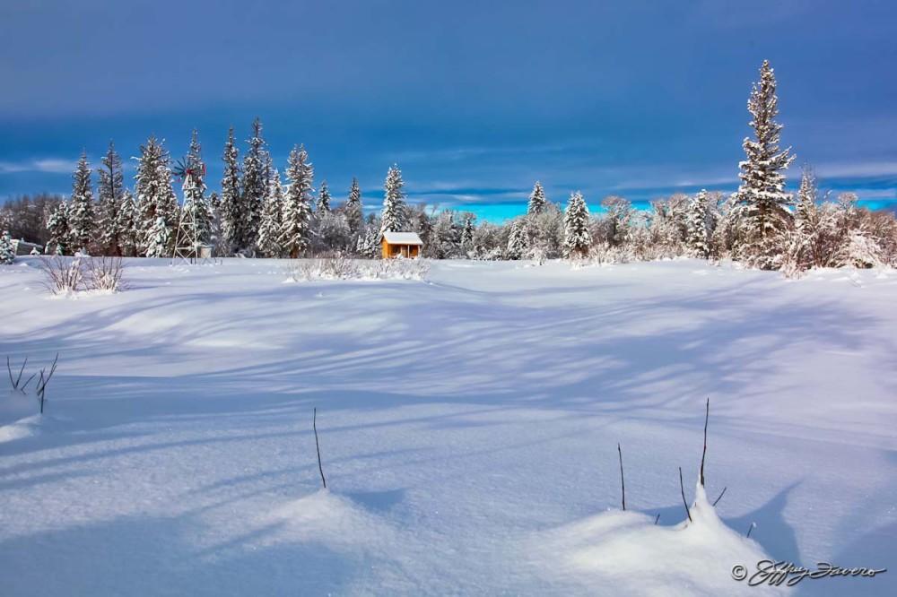 December Lower Pond - 7F Ranch, Wyoming