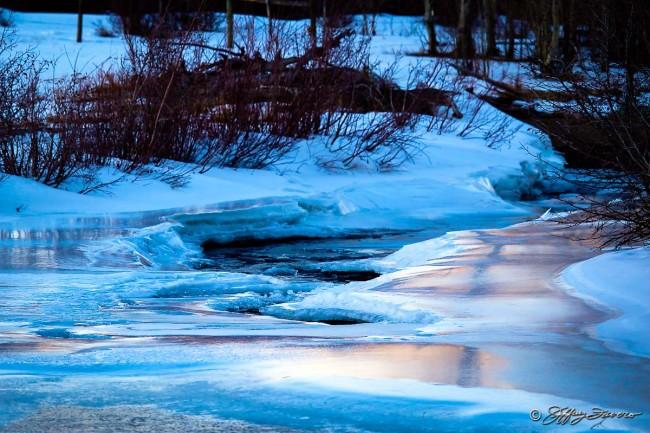 Peaceful Frozen River
