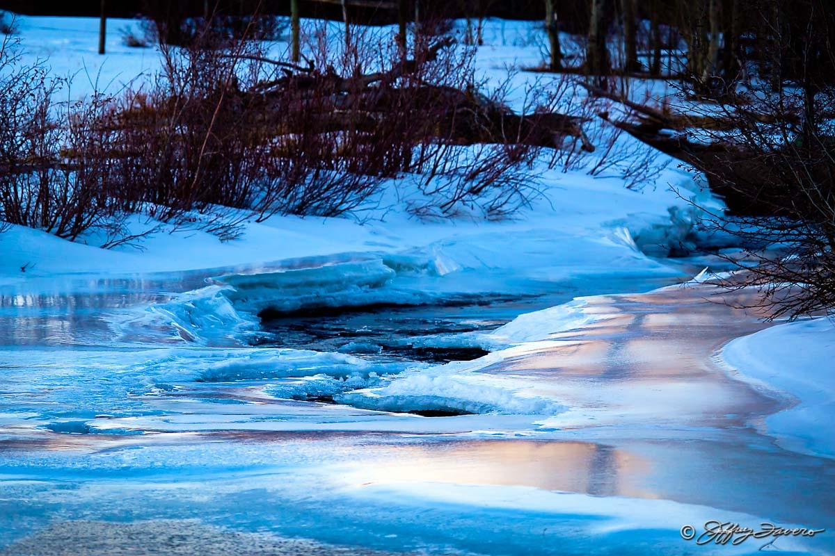 Peaceful Frozen River Jeffrey Favero Fine Art Photography