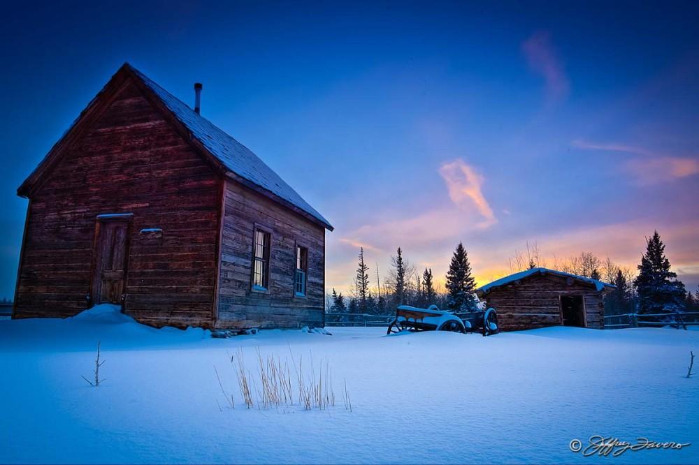 Late Afternoon Pioneer Schoolhouse